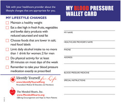 blood pressure card