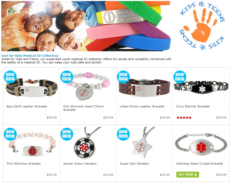 New Kids Medical Id Bracelet Line By American The Health Room