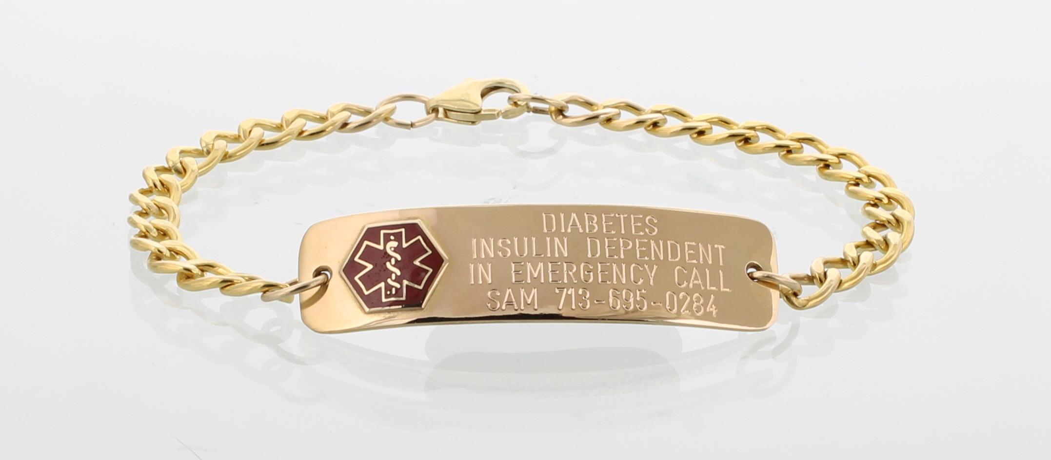 diabetes alert id bracelets necklaces for