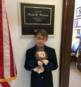 Josh, with chronic heart disease visits DC