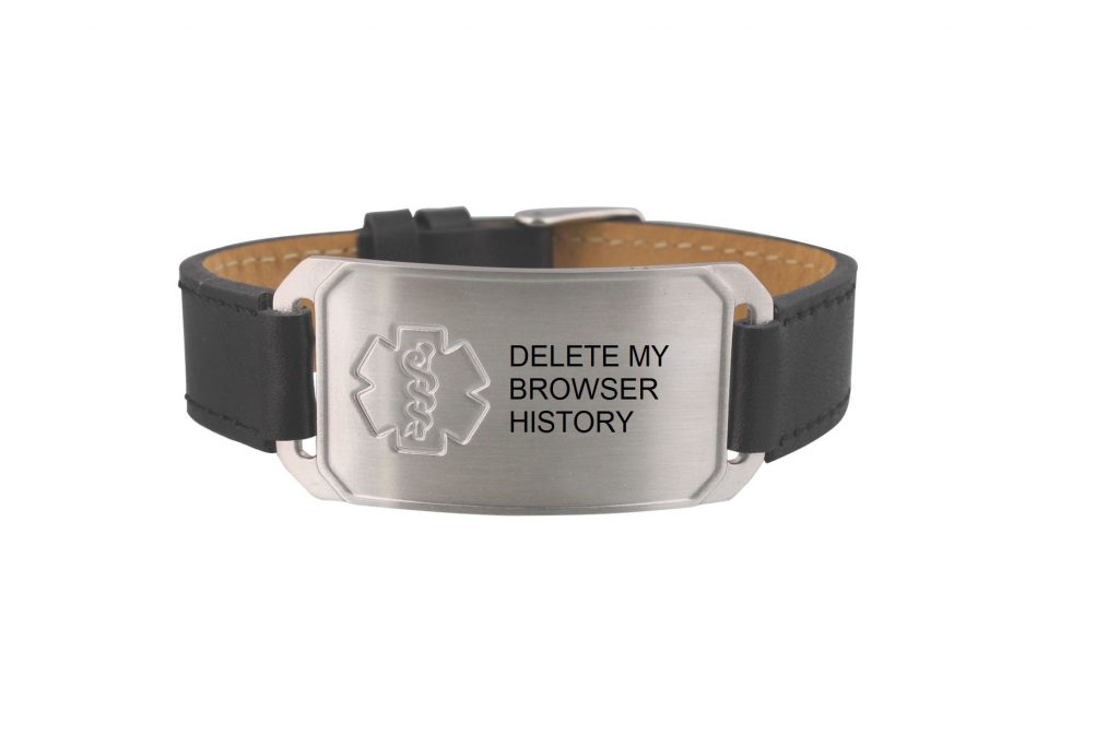 delete my browser history medical alert bracelet